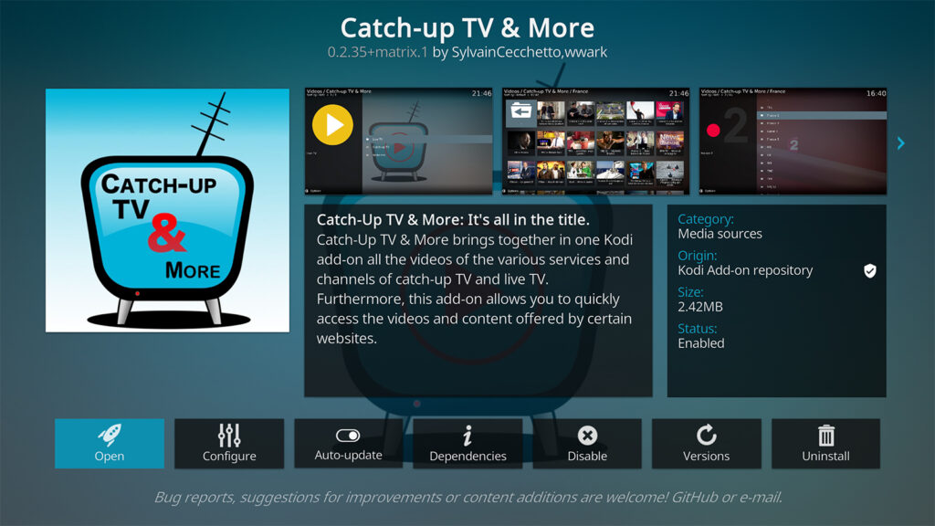 Catch up on TV and More